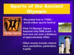 sports of the ancient olympic