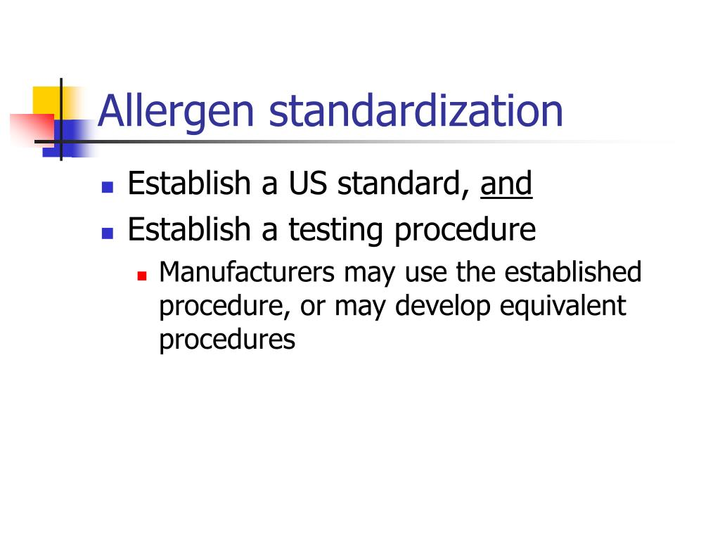 Allergen standardization