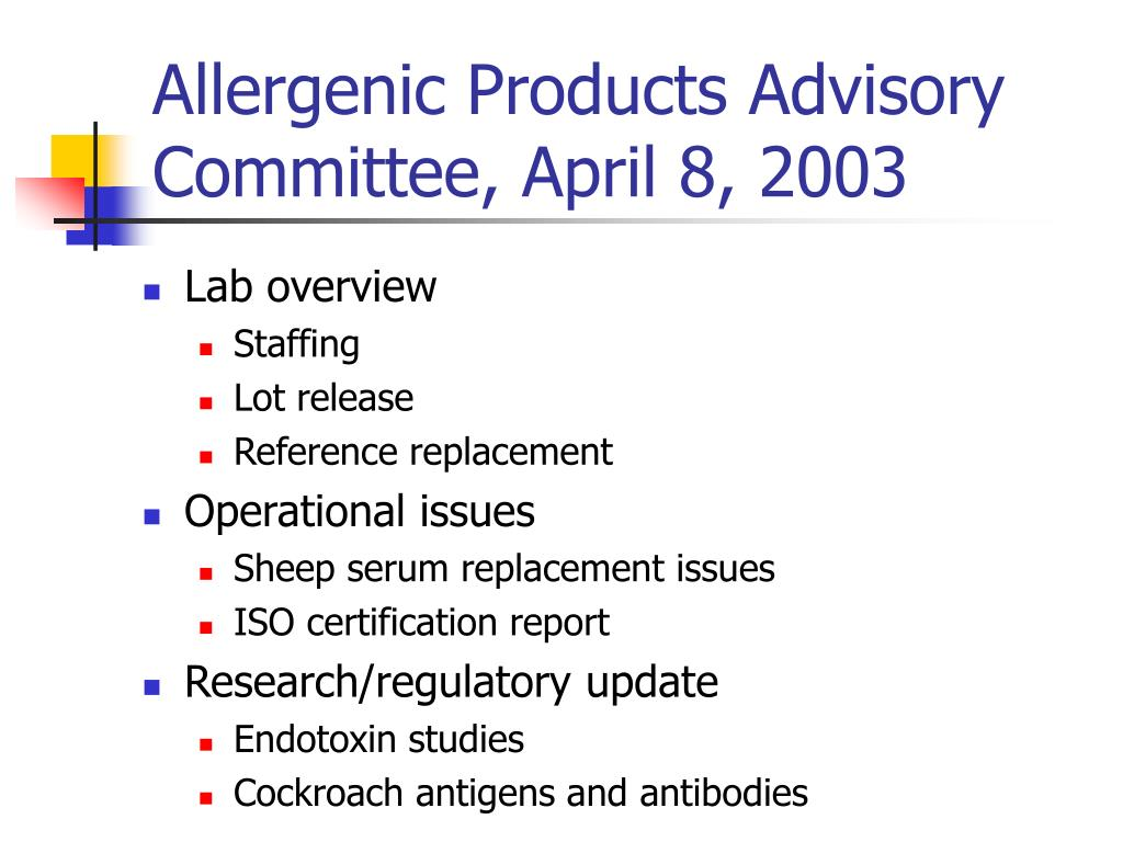Allergenic Products Advisory Committee, April 8, 2003