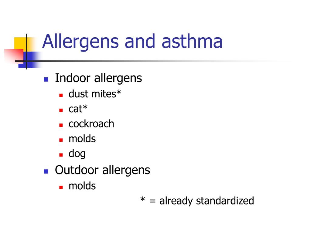 Allergens and asthma
