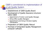 cber s commitment to implementation of a lab quality system