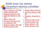niaid inner city asthma consortium steering committee