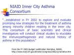niaid inner city asthma consortium