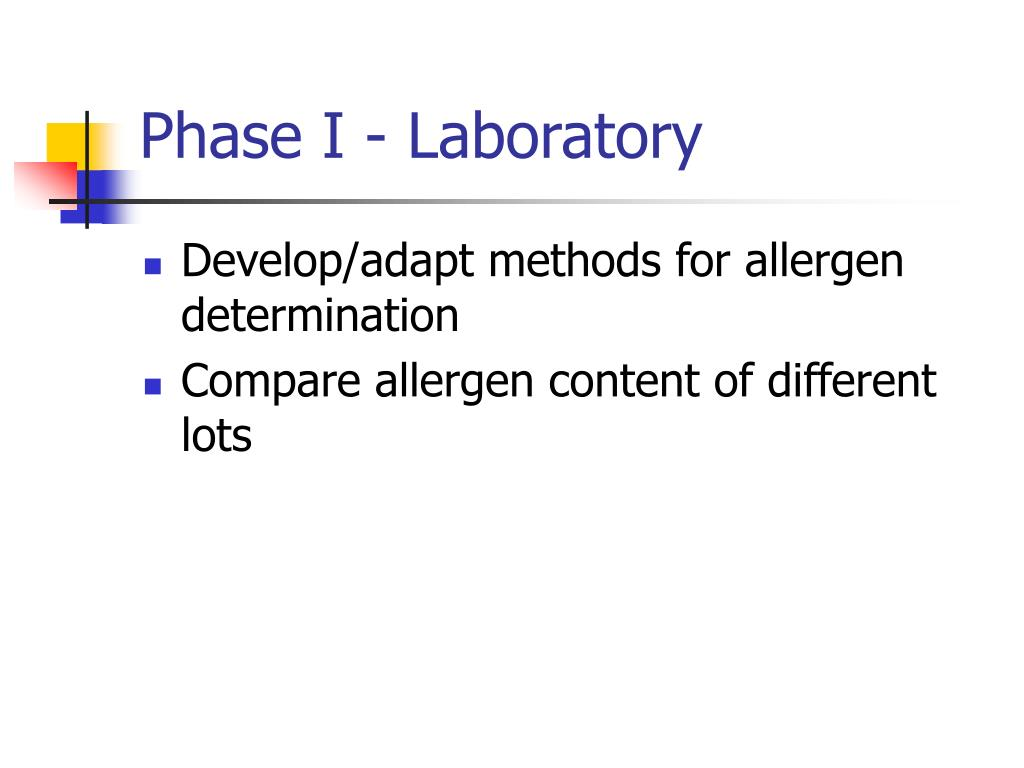 Phase I - Laboratory