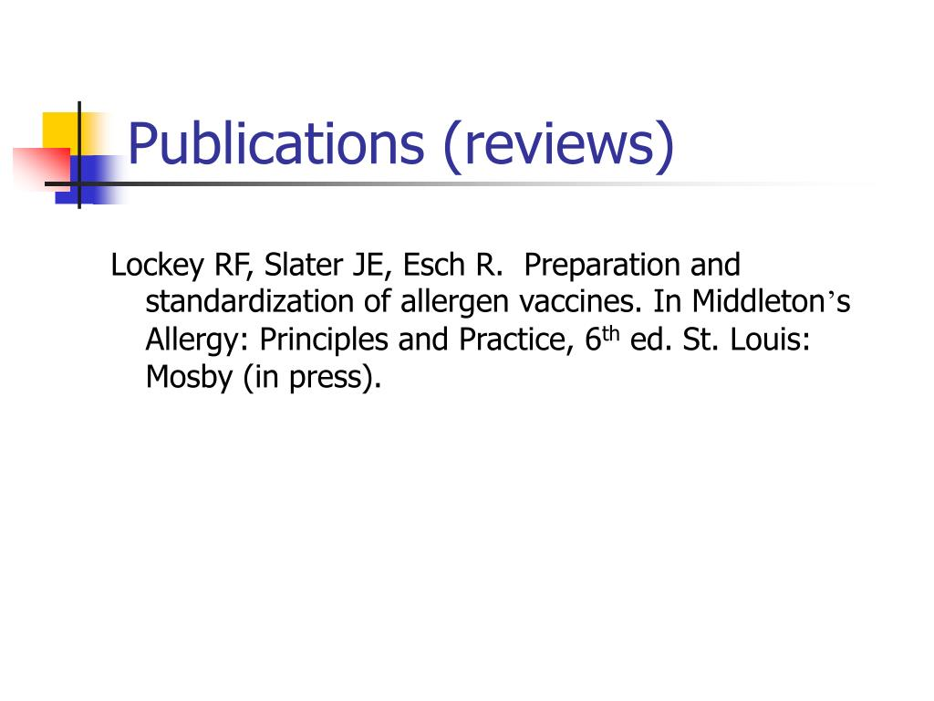 Publications (reviews)