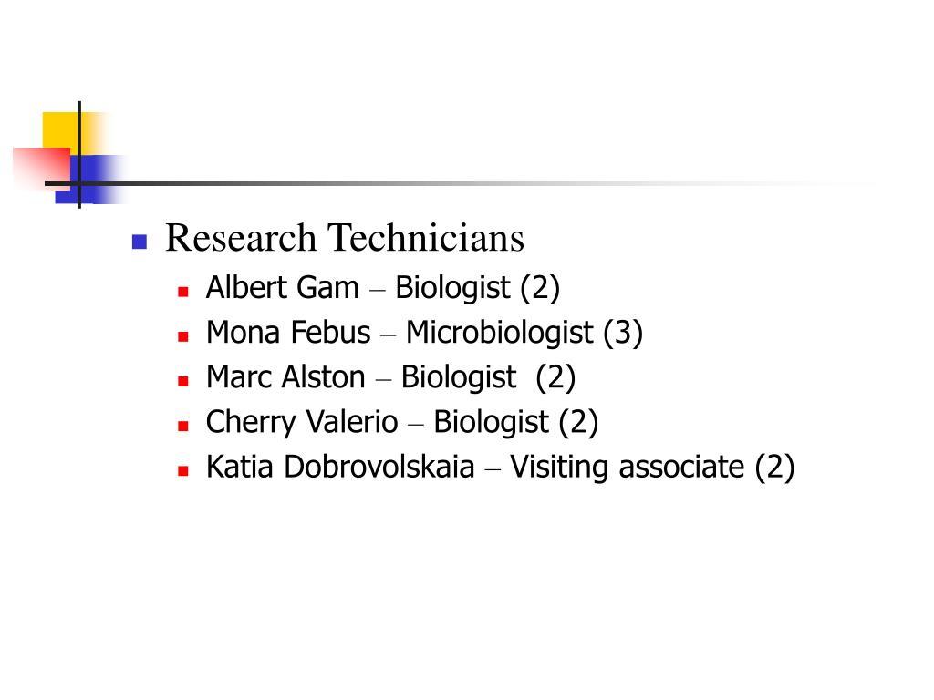 Research Technicians