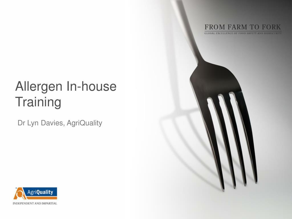allergen in house training l.