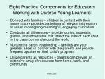 eight practical components for educators working with diverse young learners