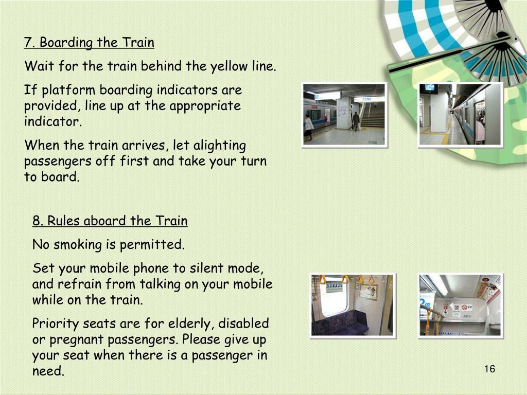 7. Boarding the Train