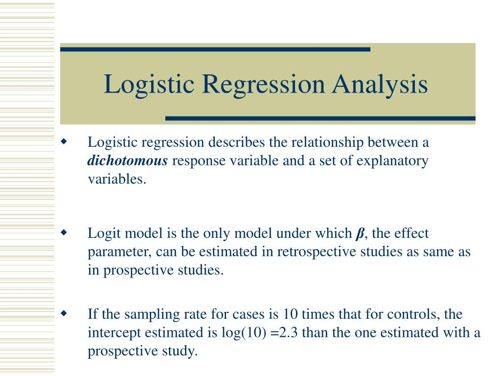 Logistic Regression Analysis