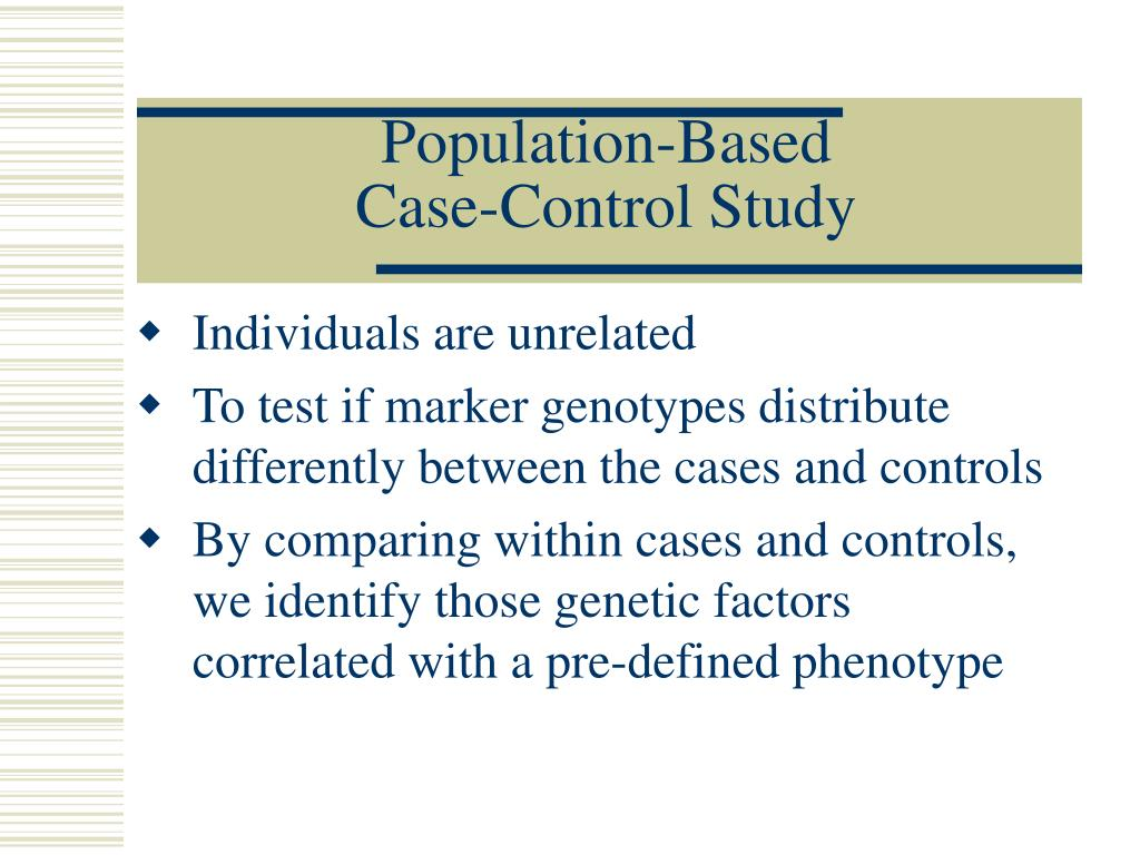 Population-Based Case-Control Study