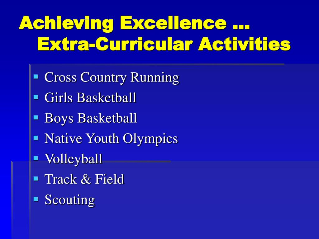 Achieving Excellence …