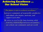 achieving excellence our school vision
