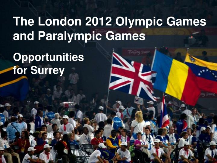the london 2012 olympic games and paralympic games n.