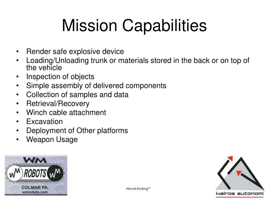 Mission Capabilities