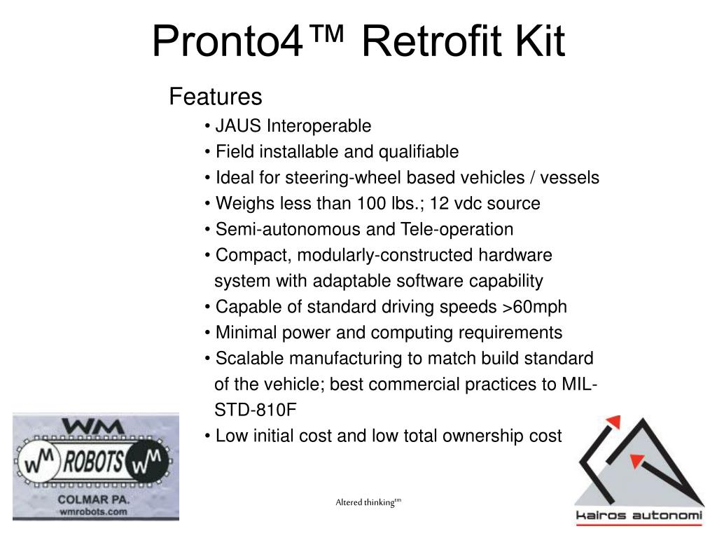 Pronto4™ Retrofit Kit
