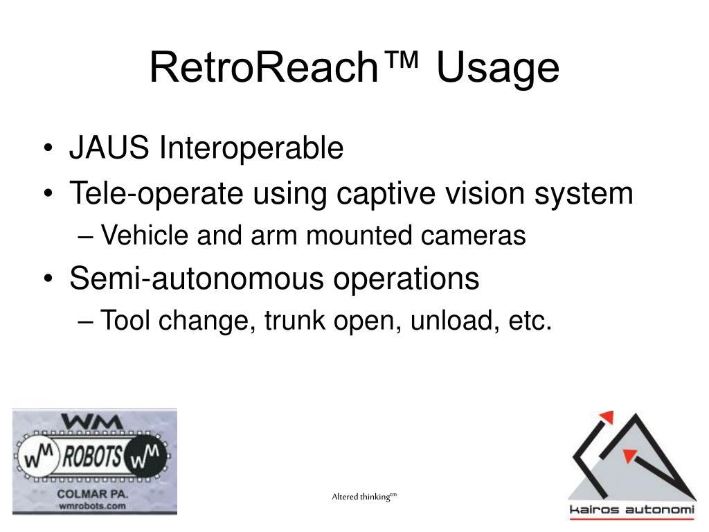RetroReach™ Usage