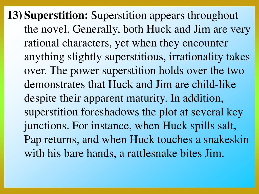 Superstition:
