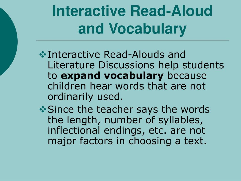 Interactive Read-Aloud and Vocabulary