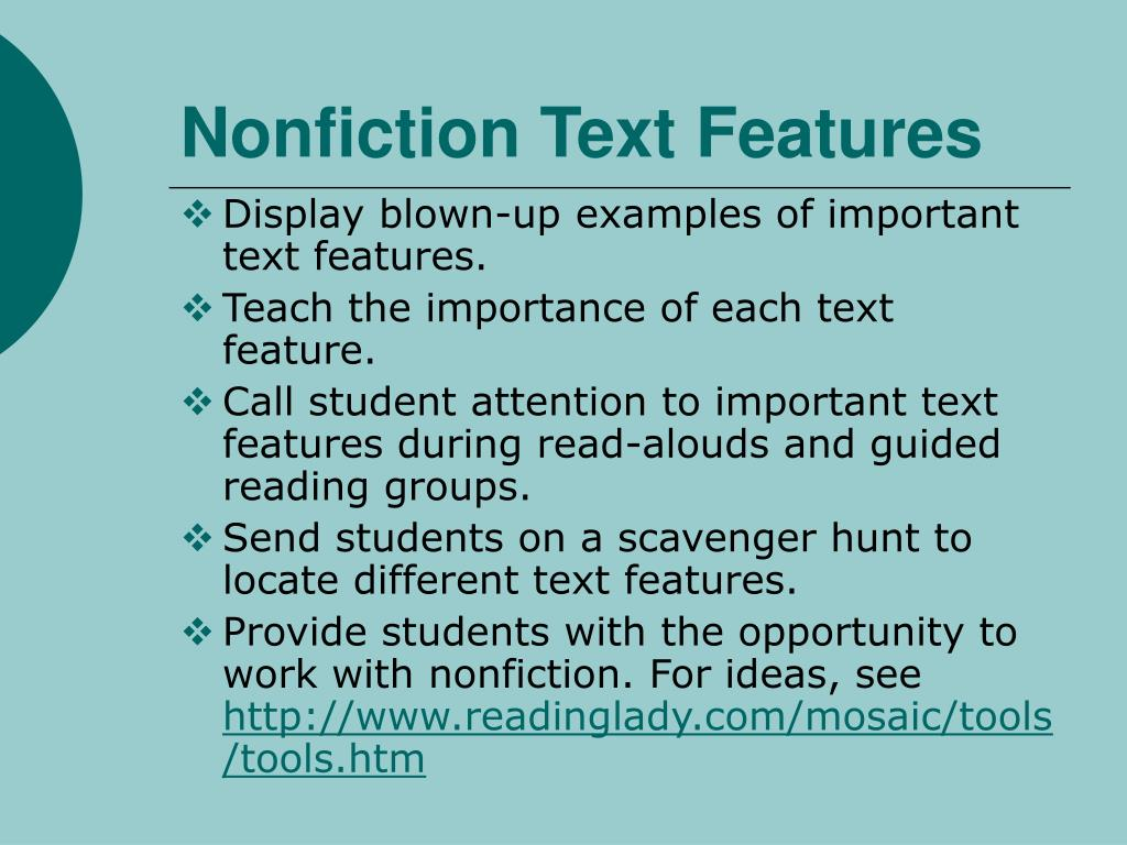 Nonfiction Text Features