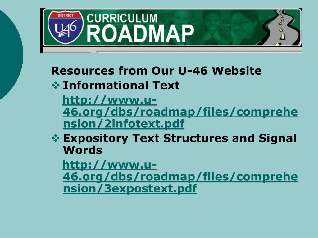 Resources from our U-46 website