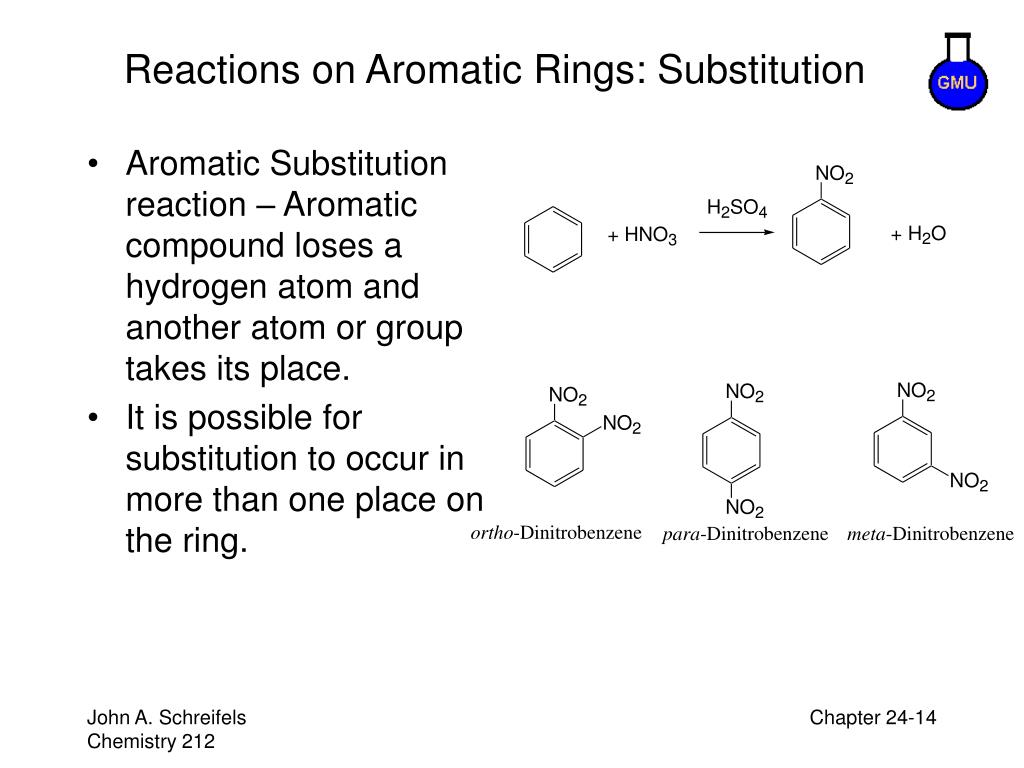 Reactions on Aromatic Rings: Substitution