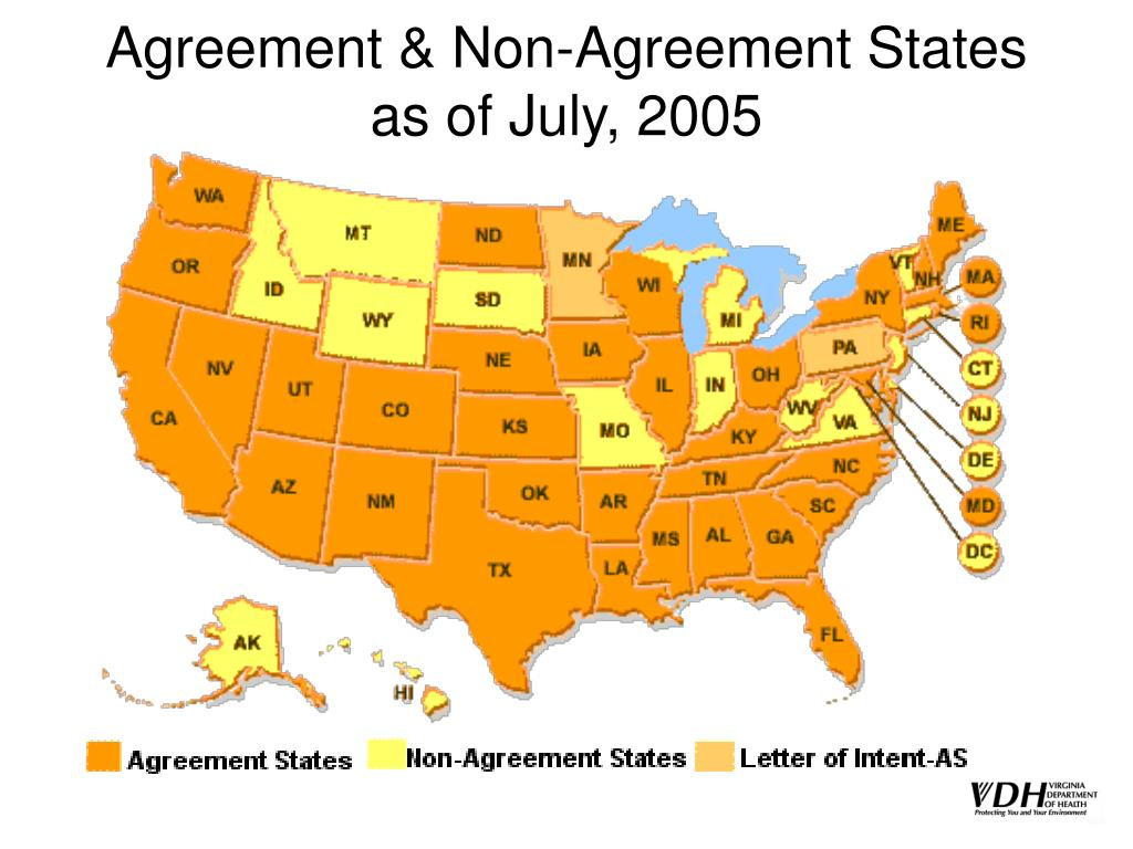 Agreement & Non-Agreement States