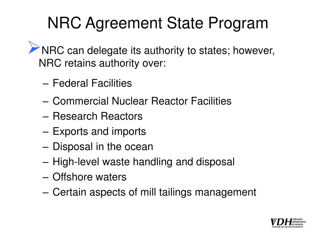 NRC Agreement State Program