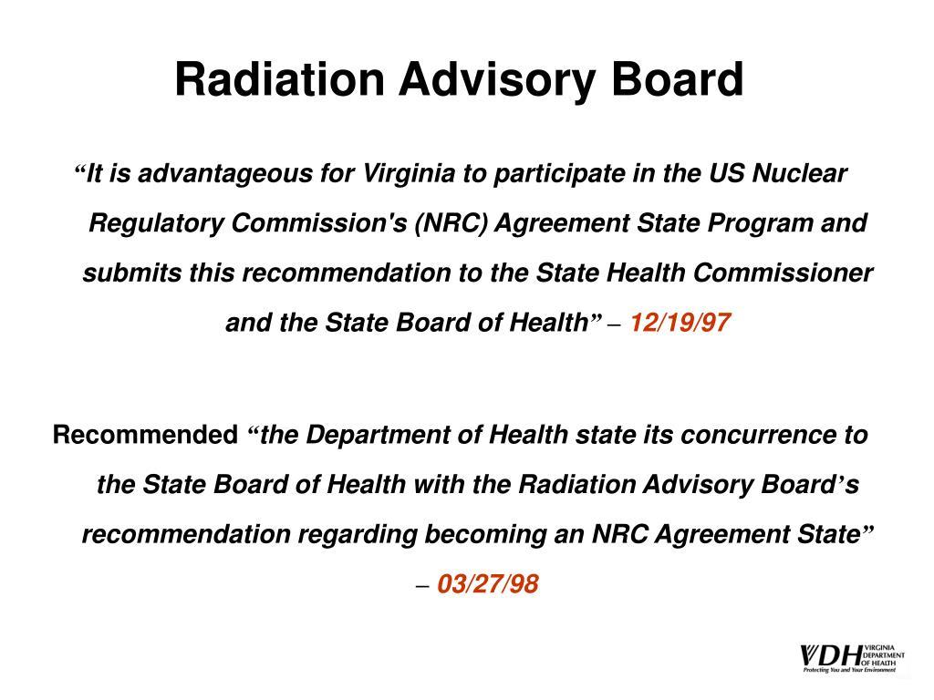 Radiation Advisory Board