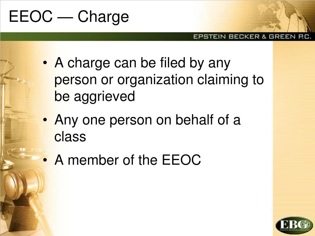 EEOC — Charge