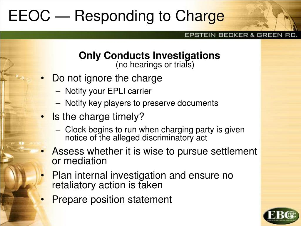 EEOC — Responding to Charge