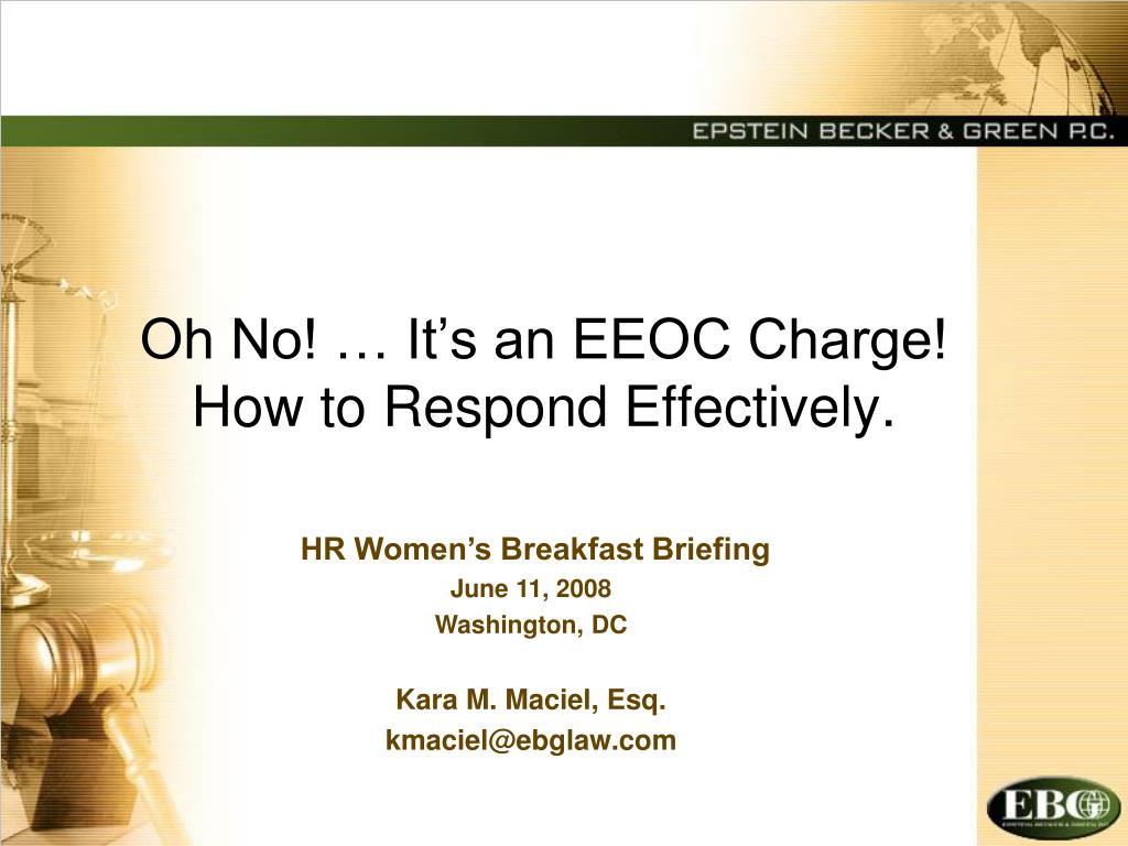 oh no it s an eeoc charge how to respond effectively l.