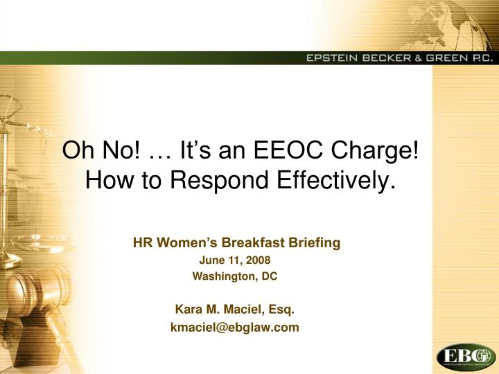 Oh no it s an eeoc charge how to respond effectively