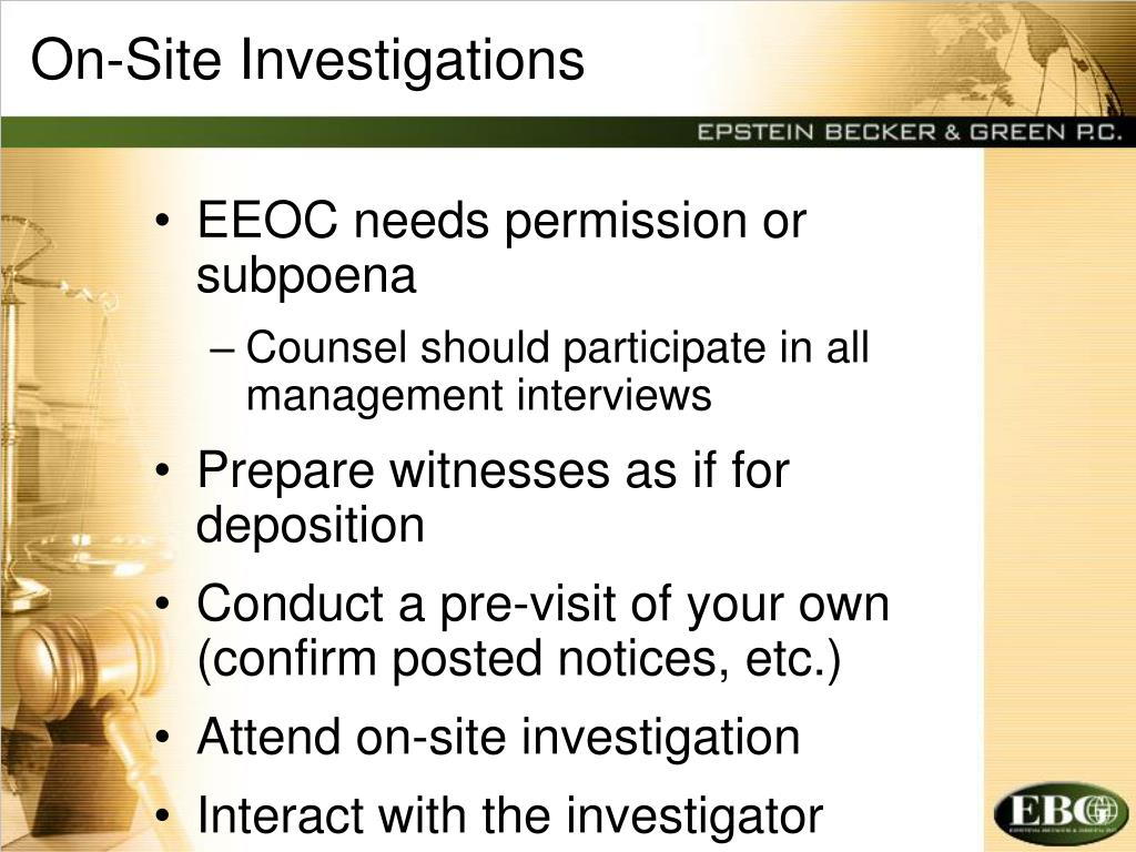 On-Site Investigations