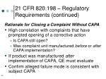 21 cfr 820 198 regulatory requirements continued30