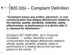 820 3 b complaint definition