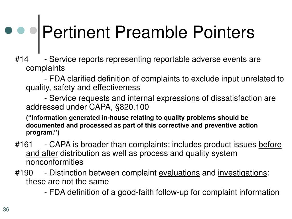 Pertinent Preamble Pointers