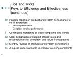 tips and tricks keys to efficiency and effectiveness continued39