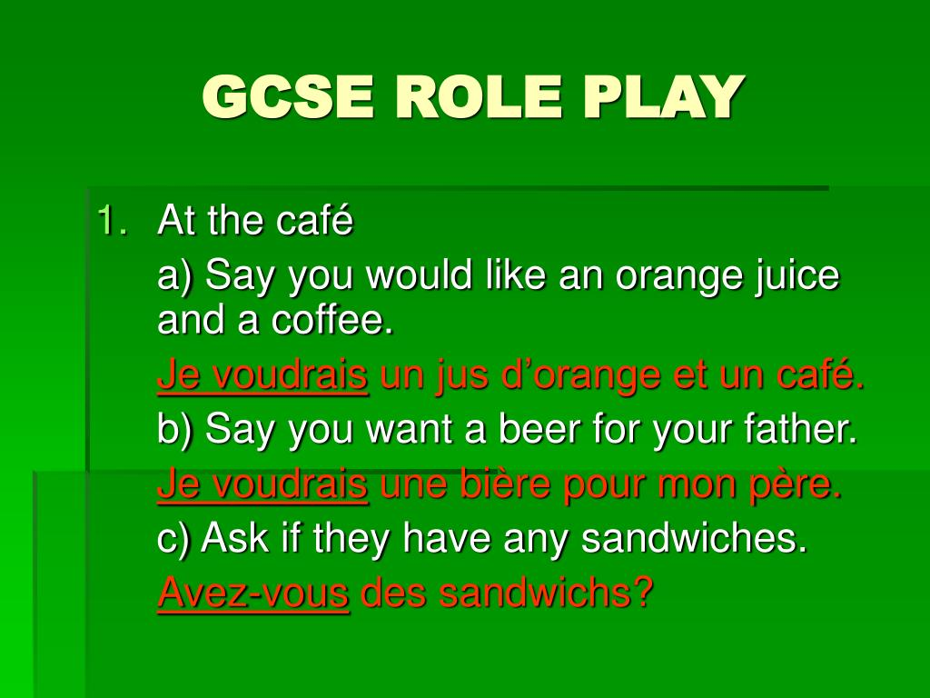 gcse role play l.