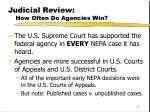 judicial review how often do agencies win