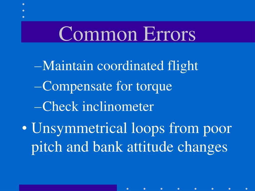Common Errors