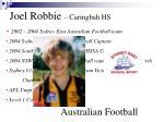 joel robbie caringbah hs australian football