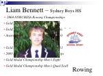 liam bennett sydney boys hs rowing