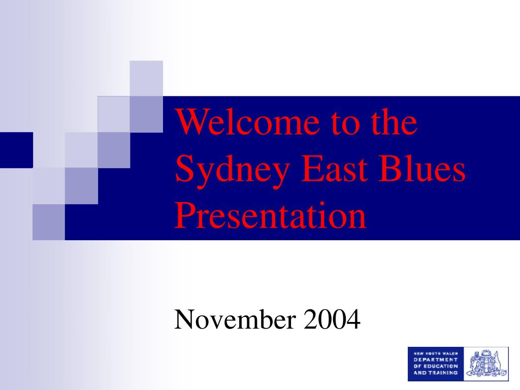 welcome to the sydney east blues presentation l.