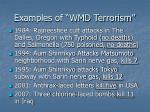 examples of wmd terrorism