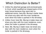 which distinction is better