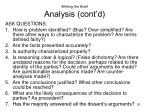 writing the brief analysis cont d
