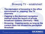 browsing tv established