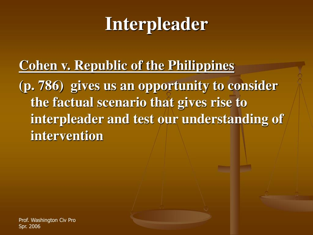 Interpleader