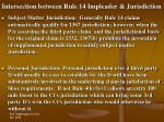 intersection between rule 14 impleader jurisdiction